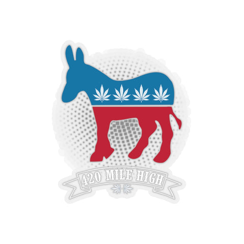 Democrat Weed Sticker