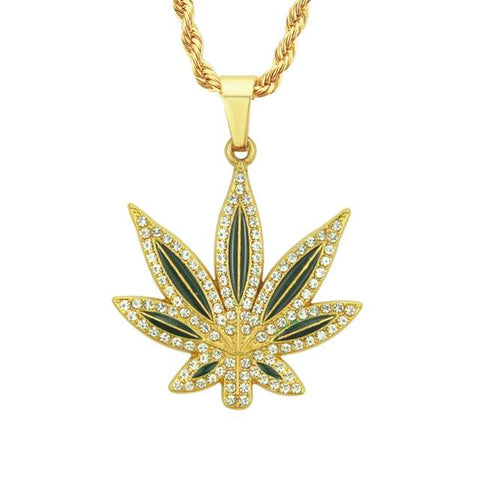 Marijuana Jewelry | Weed Leaf Charm Necklace | 420 Mile High