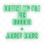 Digitize My Logo for Jacket Back and Sweatshirt Hoodies | 420 Mile High