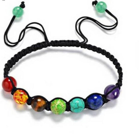 Chakra Beaded Rope Bracelet - 420 Mile High