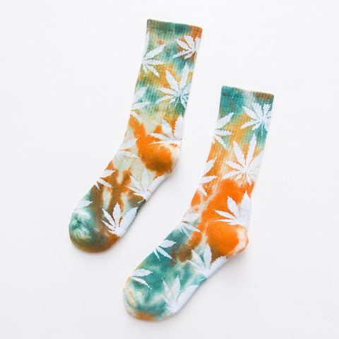 TEMPORARILY OUT OF STOCK - HUF Tie Dye Weed Crew Socks