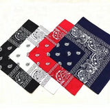 Black, White, Red, Navy Paisley Bandana - 420 Mile High