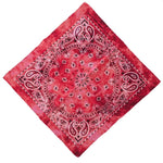 Red Tie Dye Paisley Bandanas - 420 Mile High