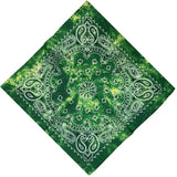 Green Tie Dye Paisley Bandanas - 420 Mile High