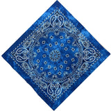 Blue Tie Dye Paisley Bandanas - 420 Mile High