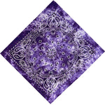 Purple Tie Dye Paisley Bandanas - 420 Mile High