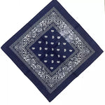 Navy Paisley Bandana - 420 Mile High