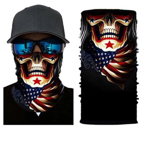 Patriotic Skull Tube Bandana Face Mask - 420 Mile High