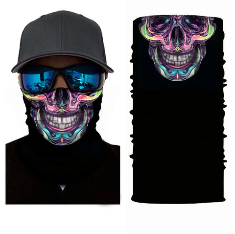 Mexican Sugar Skull Tube Bandana Face Mask - 420 Mile High