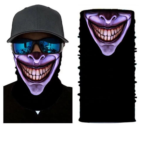 Purple Joker Grin Tube Bandana Face Mask - 420 Mile High