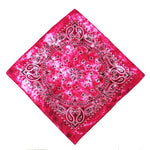 Rose Pink Tie Dye Paisley Bandanas - 420 Mile High