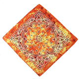 Orange Tie Dye Paisley Bandanas - 420 Mile High