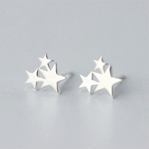 Patriotic Stars Sterling Silver Earrings - 420 Mile High