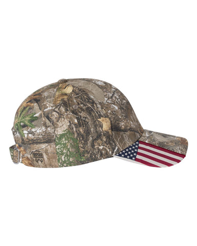 American Flag Realtree Edge Buckle Hat