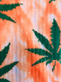 Tie Dye Orange Weed Crew Socks - 420 Mile High