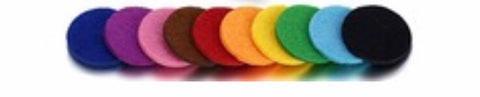 Auto Air Freshener Solid Color Refill Pads