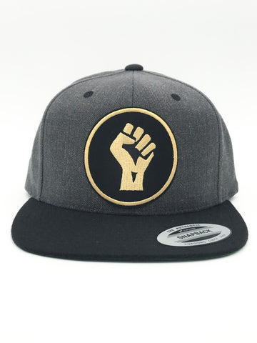 Fight For Justice Flat Bill Snapback Dark Heather/Black Hat | 420 Mile High