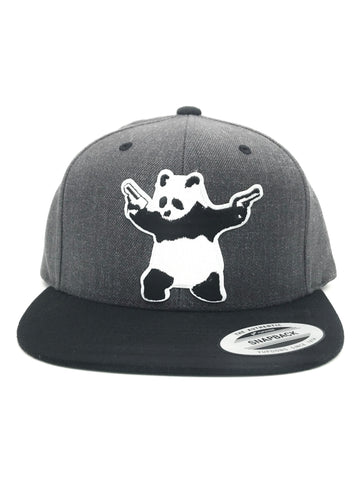 Armed Panda Gang Squad Flat Bill Snapback Dark Heather/Black Hat | 420 Mile High