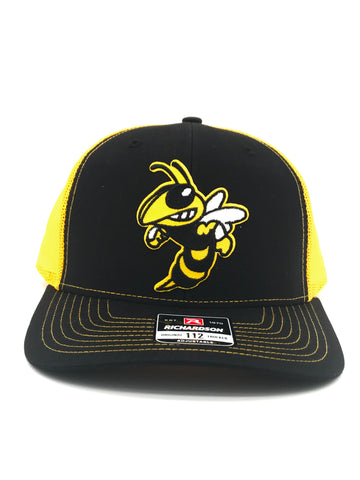 Yellow Jacket Snapback Trucker Black/Gold Hat | 420 Mile High