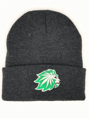 Glow-In-The-Dark Lion Cannabis Cuff Beanie | 420 Mile High