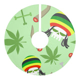Party Weed Christmas Tree Skirt