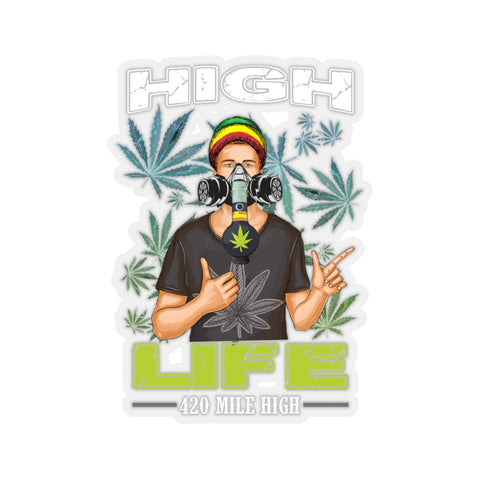 Weed Man High Life Sticker - 420 Mile High