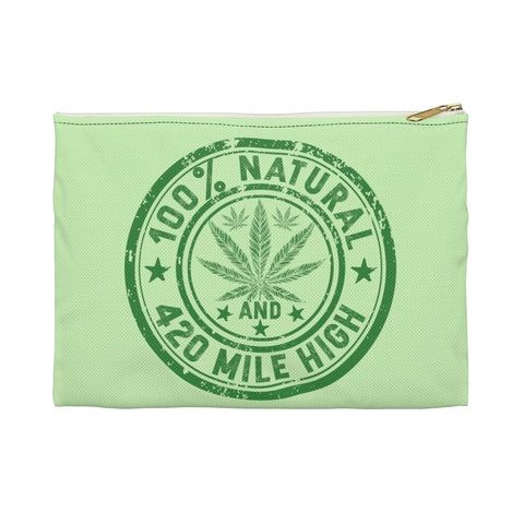 100% Natural Weed Accessory Pouch - 420 Mile High