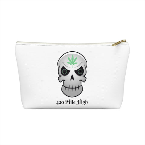 Weed Skull Accessory Pouch w T-bottom