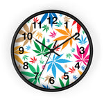 Multi-Color Weed Wall Clock - 420 Mile High