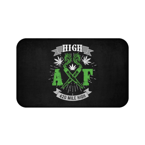 High AF Weed Bath Mat - 420 Mile High