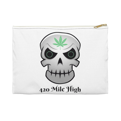 420 Mile High Skull Weed Accessory Pouch - 420 Mile High