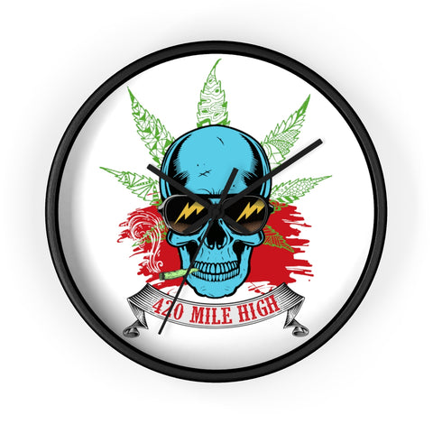 Smoking Weed Wall Clock - 420 Mile High
