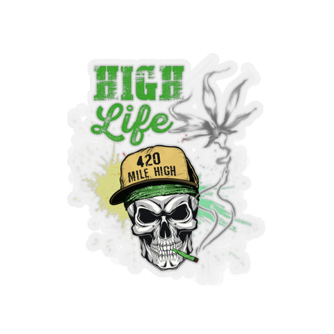 High Life Weed Sticker
