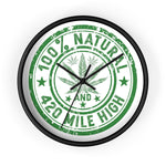 100% Natural Weed Wall Clock - 420 Mile High