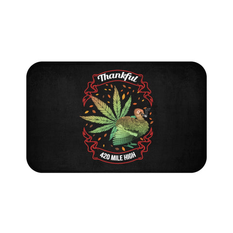 Thankful For Weed Bath Mats - 420 Mile High