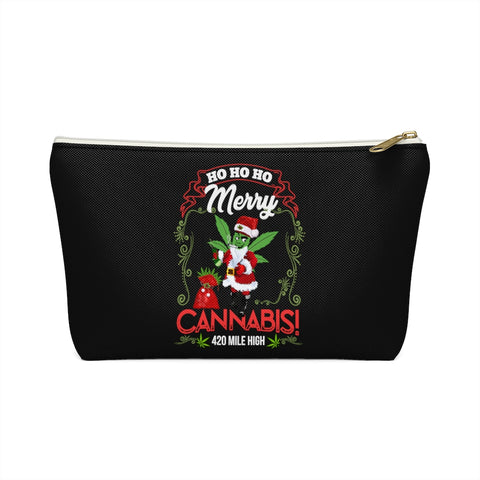 Merry Cannabis Weed Accessory Pouch w T-bottom
