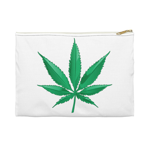 Marijuana White Accessory Pouch - 420 Mile High