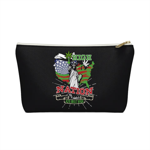 High Nation Weed Accessory Pouch w T-bottom