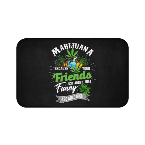 Marijuana Bath Mat - 420 Mile High