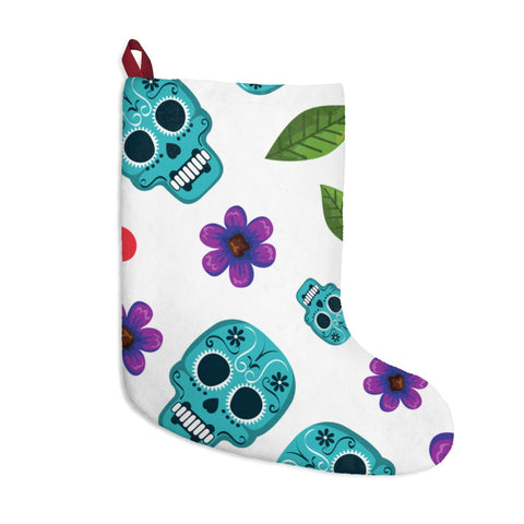 Skulls + Flowers Christmas Stockings