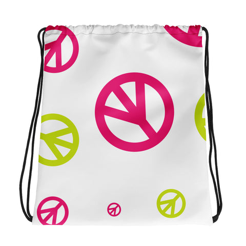 Peace Signs Drawstring Bag - 420 Mile High