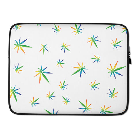 Multi-Color Weed Pattern Laptop Protective Sleeve - 420 Mile High
