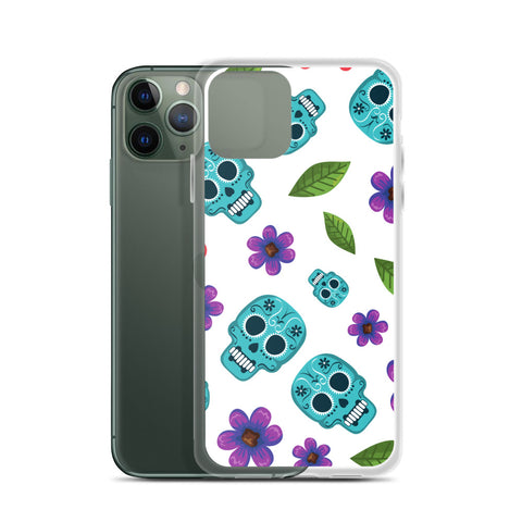 Skull and Flower iPhone Case - 420 Mile High
