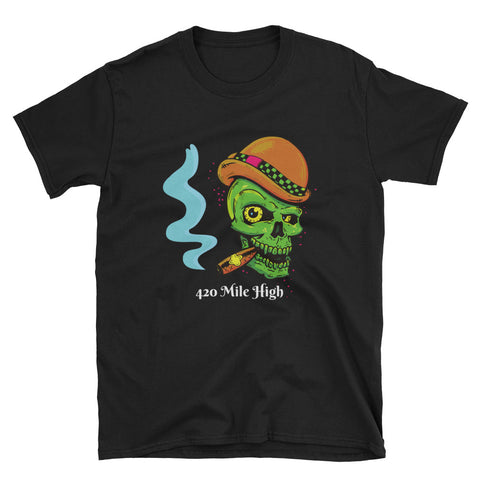 Smoke A Fat One Weed Short-Sleeve Unisex T-Shirt - 420 Mile High