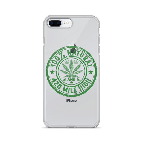 100% Natural Weed iPhone Case - 420 Mile High