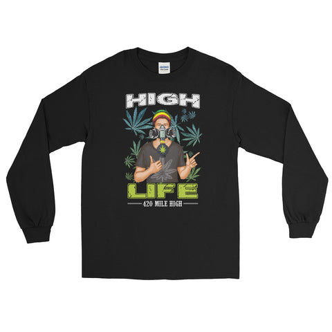 Weed Man High Life Long Sleeve T-Shirt - 420 Mile High
