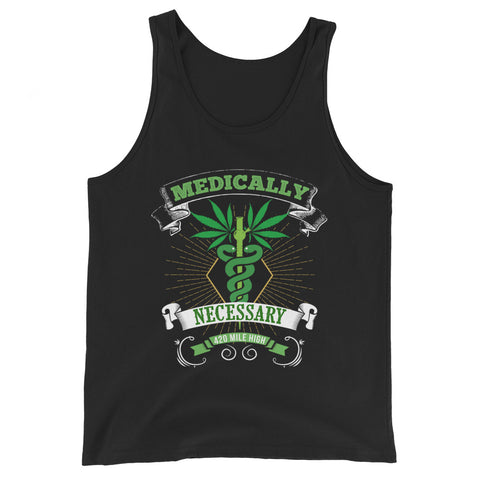 Medically Necessary Weed Tank Top - 420 Mile High
