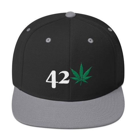 420 Mile High 420 Weed Snapback Hat - 420 Mile High