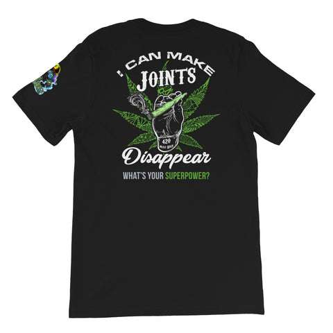 What's Your Superpower Weed Short-Sleeve Unisex Back Print T-Shirt