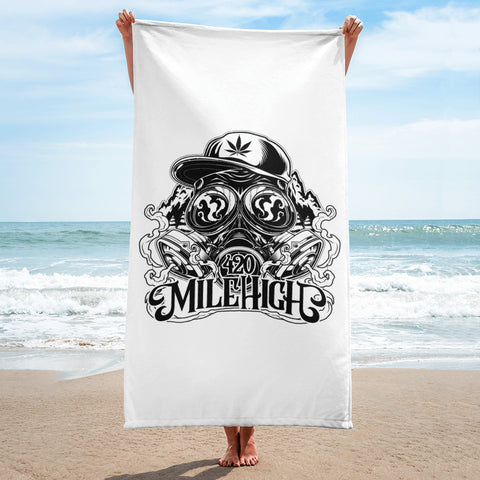 420 Mile High Beach Towel - 420 Mile High